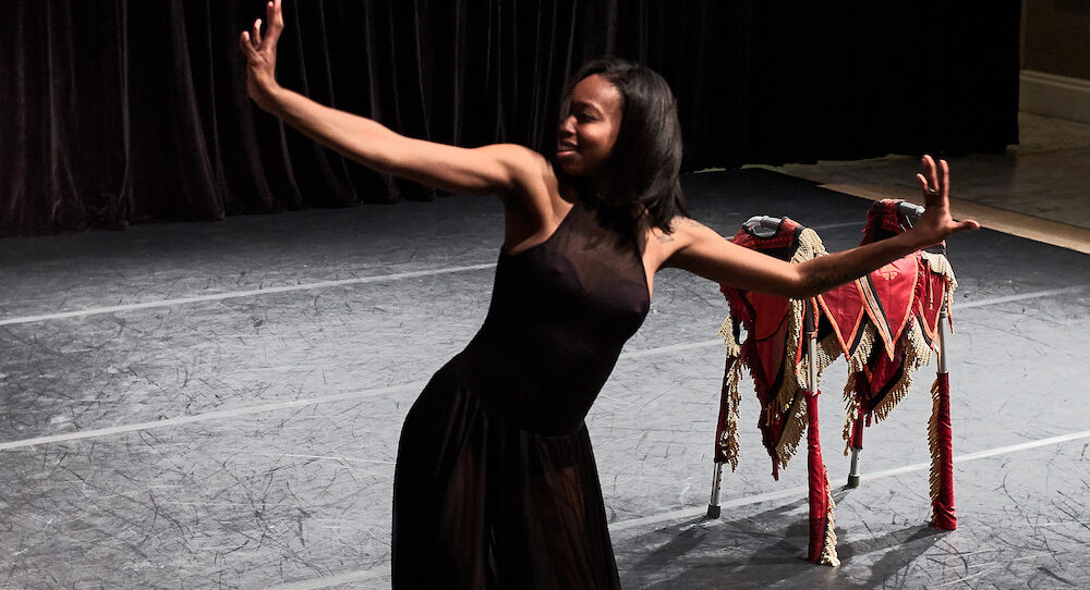 Abilities Dance Boston performance featuring Artistic Director Ellice Patterson. Photo: Bill Parsons.