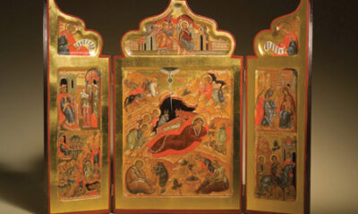 Triptych of the Holy Nativity of Christ, Russian icon by Ksenia Pokrosky. Photo by Jason Dowdle.