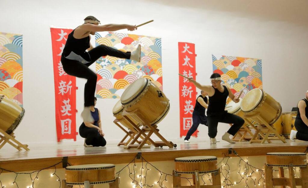 Odaiko New England performance of Taiko Drumming