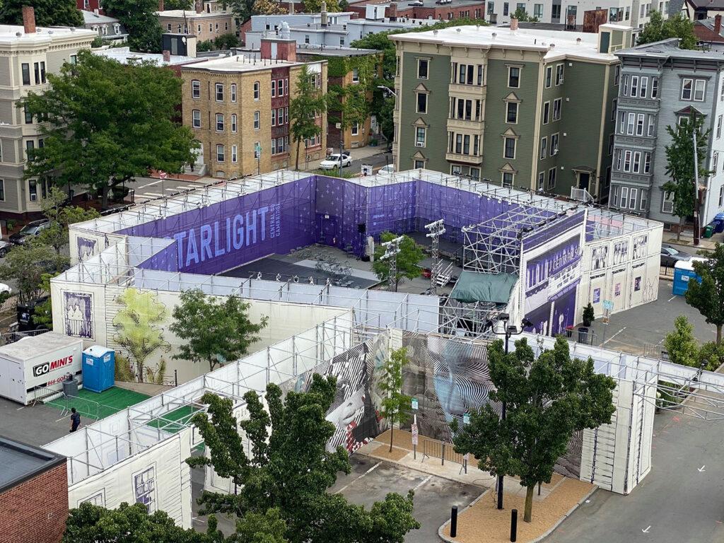Overhead image of Starlight Square. Photo courtesy of Central Sq BID.