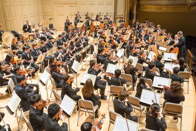 A performance by the Boston Youth Symphony Orchestra