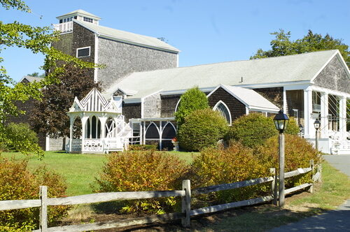 Exterior of the Cape Playhouse at the Cape Cod Center for the Arts