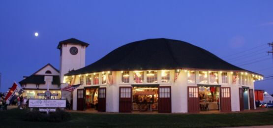 Carousel House and historic Clock Tower Building at the Paragon Carousel