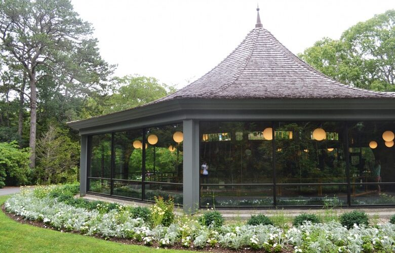 Exterior of the Arts and Carousel Building at the Heritage Museums & Gardens