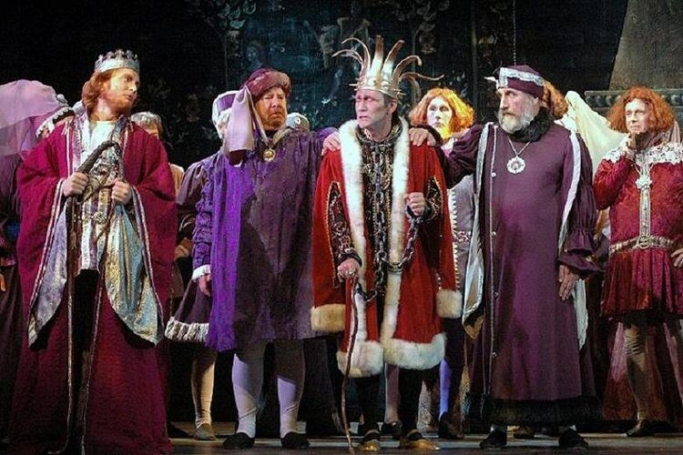 People in royal garb as a part of a performance at Valley Light Opera