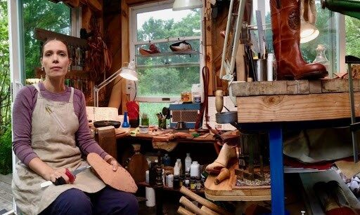 Sarah M. Guerin in her bootmaking workshop. Photo courtesy of Sarah M. Guerin.
