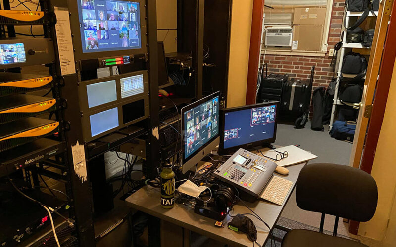 Technology room at Amherst Community Television
