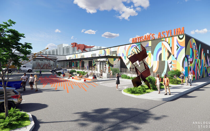 Rendering of exterior of new space