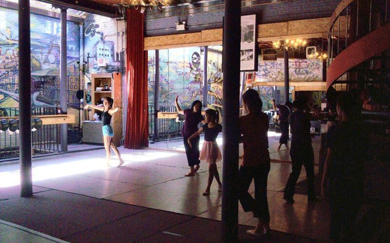 Dancers in the studio at Boston City Lights