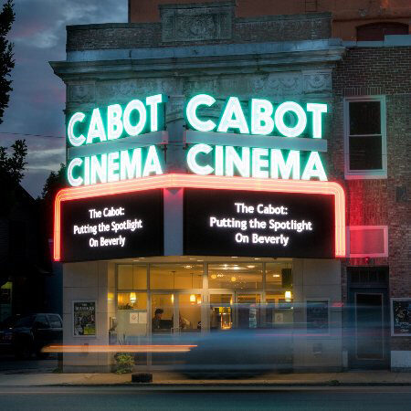 Marquee and entrance of the Cabot Center for the Performing Arts