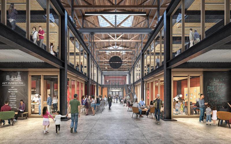 Rendering of new indoor community space