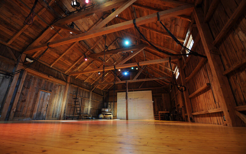 Main Theatre Barn interior at Double Edge Theatre