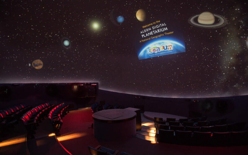 Planetarium space at the EcoTarium