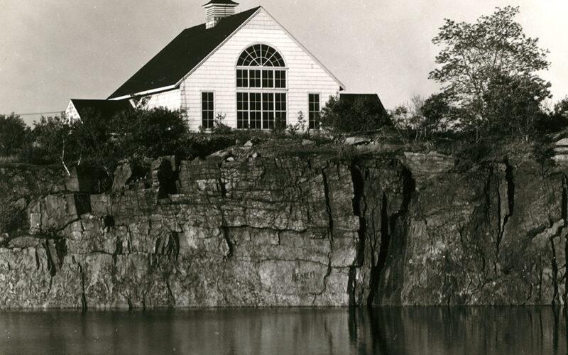 Historic photo of the Manship barn