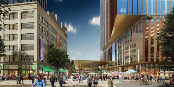 Rendering of the new MIT Museum at Kendall Square