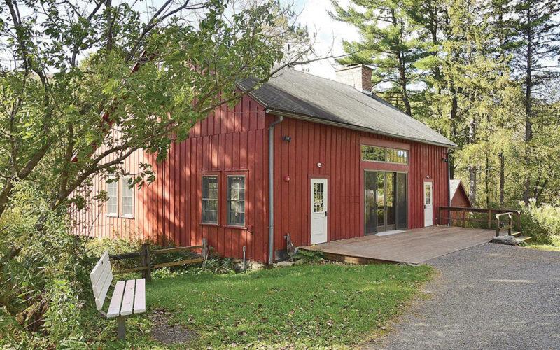 Historic barn at the Pleasant Valley Wildlife Sanctuary