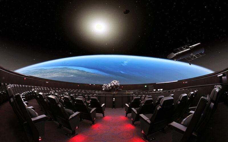 Inside the Hayden Planetarium