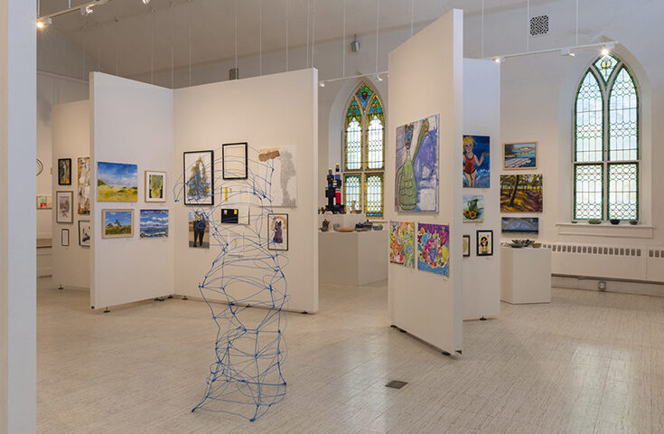 Gallery at the New Art Center in Newton