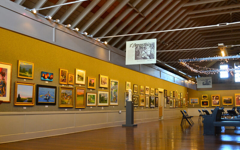Inside the gallery at the North Shore Arts Association of Gloucester