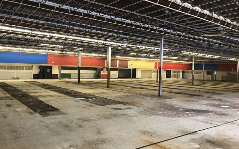 Vacant interior of a former Price Chopper building