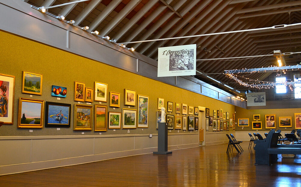 Interior of North Shore Arts Association of Gloucester